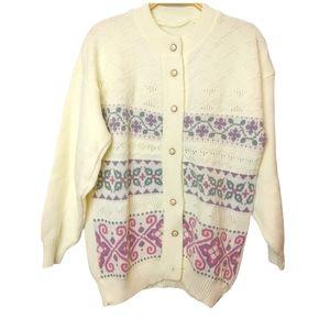 Vintage Grandma textured knit Sweater